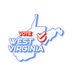 Presidential vote in west virginia usa 2020 vector