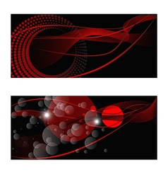 red abstract backdrops vector image