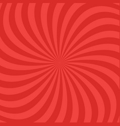 red abstract spiral ray pattern background vector image