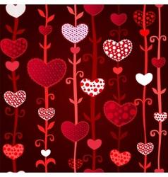 Red Dark Love Valentins Day Seamless Pattern vector