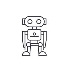 robot line icon concept robot linear vector image