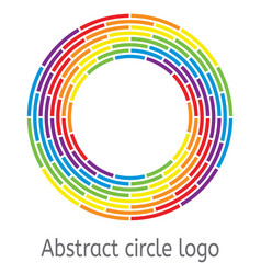 round circle with rainbow colors vector image
