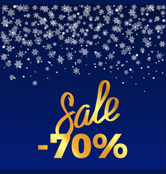 Sale -70 poster depicting discount with snowflakes vector