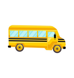 school bus template isolated design vector image