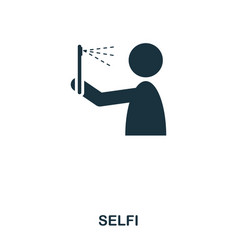 selfi icon mobile app printing web site icon vector image