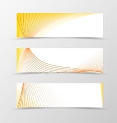 set banner smooth design vector image