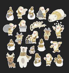 Set cute cartoon character for chr vector