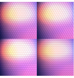 Set of four blurry background vector