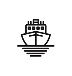 ship icon cruise symbol vector image