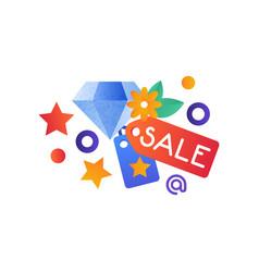 shopping symbols jewelry sale internet shopping vector image