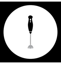 simple black kitchen hand blender icon eps10 vector image