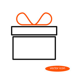 simple linear image of a gift box with an vector image