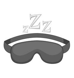 Sleeping mask icon monochrome vector