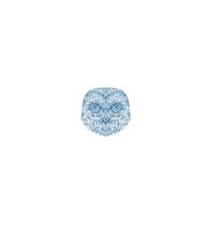 Snowy owl head mandala vector