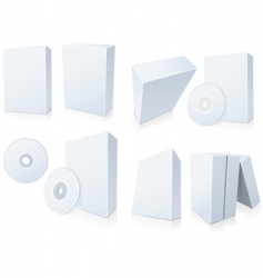 Software boxes with cd vector