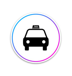 taxi car icon isolated on white background circle vector image