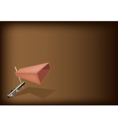 The Musical Cowbell on Dark Brown Background vector