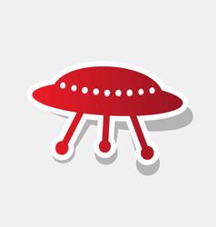 Ufo simple sign new year reddish icon vector