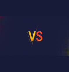 versus screen background fight clash battle vs vector image