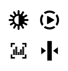 Video photo music editing simple related icons vector