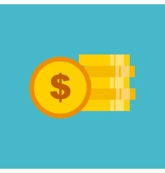 coins money flat isolated icon vector image