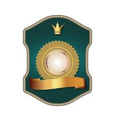 Golden vintage template-emblem and heraldry vector image vector image