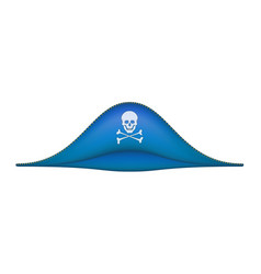 Pirate hat with skull symbol vector