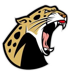 roaring leopard vector image vector image