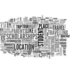 what you need to know about students travel text vector image vector image