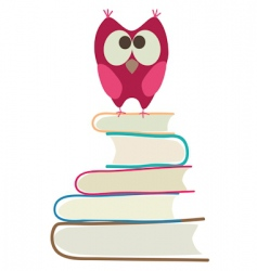 book and owl vector image vector image