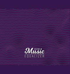 digital wave equalizer sound noize wave vector image vector image