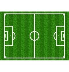 European football soccer field vector image vector image