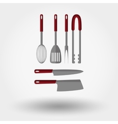 Kitchen tools icons vector image vector image