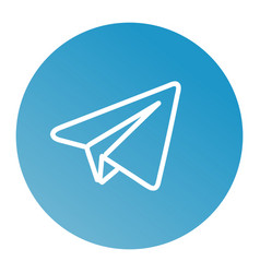 linear paper plane icon vector image