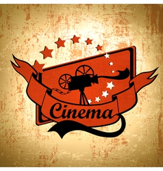 Retro Cinema Background vector image