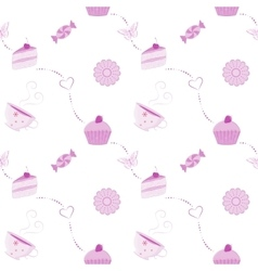 seamless dessert pattern vector image
