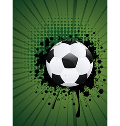 Soccer Ball on Rays Background3 vector image vector image