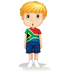 South African boy standing straight vector image vector image