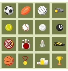 Sports flat icons set vector