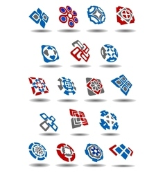 Abstract geometric icons and symbols set vector image