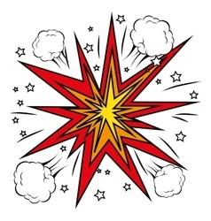 boom comic pop art vector image