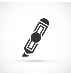 Paper knife icon vector image