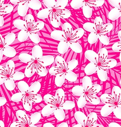 Small white tropical frangipani seamless pattern vector image vector image