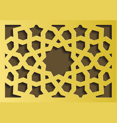traditional east geometric decorative pattern gold vector image vector image