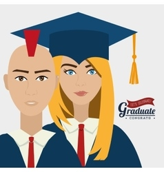 University students graduation vector image vector image
