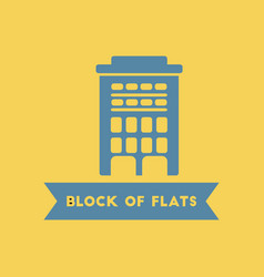 Apartment block building vector