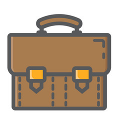 briefcase colorful line icon business portfolio vector image vector image