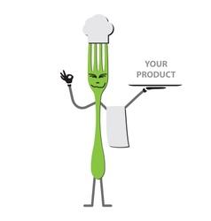 Fork cartoon vector