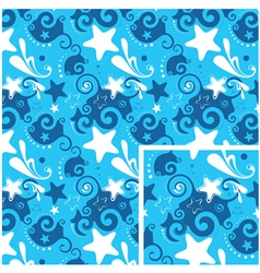 seamless stars background vector image vector image