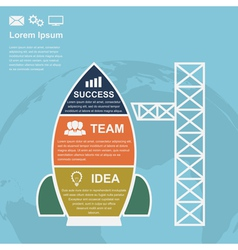 startup infographic vector image